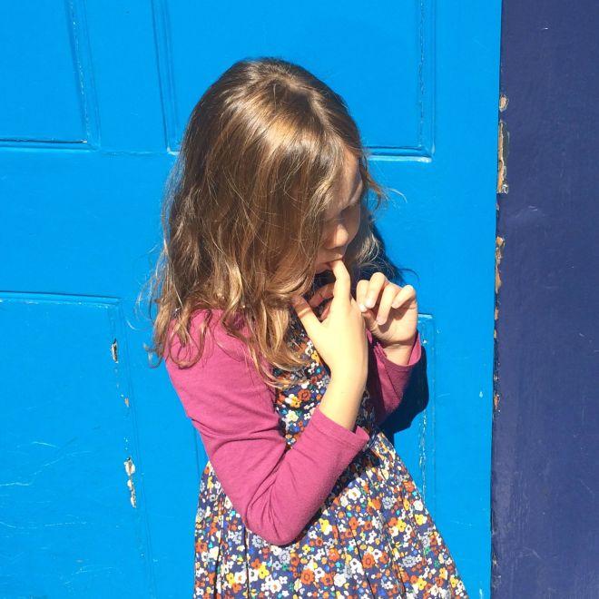 Mia blue door